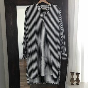 Everlane Collarless Shirt Dress